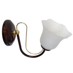 [OUTLET] POLBŁYSK Lampa/kinkiet 1x60W E27 brąz/złoto CZ133