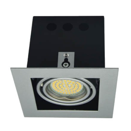 Oprawa kasetonowa halogenowa LED kwadratowa ruchoma z gniazdem GU10