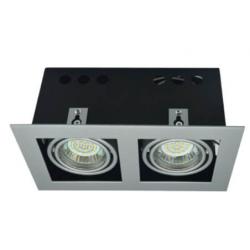 Oprawa kasetonowa podwójna halogenowa LED kwadratowa ruchoma z gniazdem GU10