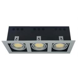 Oprawa kasetonowa potrójna halogenowa LED kwadratowa ruchoma z gniazdem GU10
