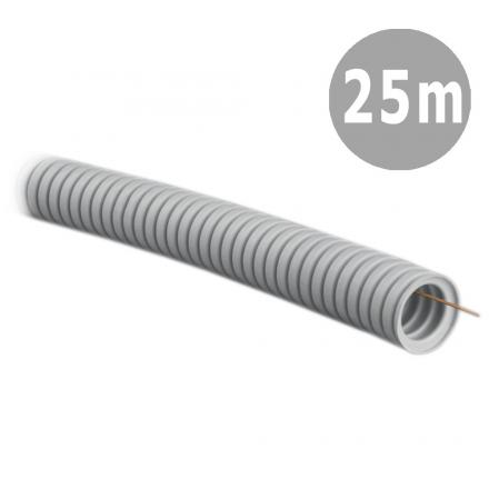 TADPOL Rura elektroinstalacyjna 16/11mm peszel karbowany jasnoszary z pilotem RKGLP 320N 25mb