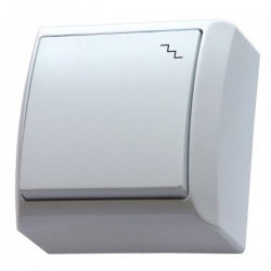 OSPEL BIS Łącznik pojedynczy schodowy natynkowy biały ŁN-3B/00