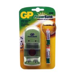 [OUTLET] GP Ładowarka akumulatorowa 2xAA/AAA PowerBank s360 + 2 akumulatory NiMH AA OU333
