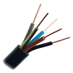 Mercor Przewód energetyczny drut YKY 5x2,5mm² 0,6/1kV czarny 1mb