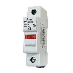 LC Podstawa bezpiecznikowa z kontrolką na wkładki gG 10x38 1P 32A 500V~ RT18-32X