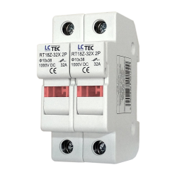 LC Podstawa bezpiecznikowa DO FOTOWOLTAIKI z kontrolką na wkładki gG 10x38 2P 32A 1000V DC RT18Z-32X