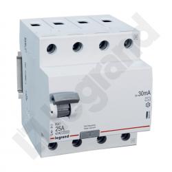 Legrand Wyłącznik różnicowoprądowy 4P 25A typ AC P304 RX³ 402062
