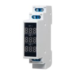SPAMEL Wskaźnik napięcia modułowy 3F cyfrowy woltomierz 80-500V AC SPMV/3