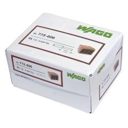 WAGO Szybkozłączka na drut 6x1,5-4mm² brązowa/transparentna 773-606 100szt.