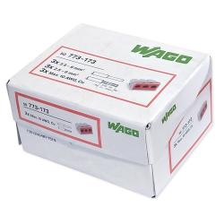 WAGO Szybkozłączka uniwersalna 3x2,5-6mm² czerwona/transparentna 773-173 50szt.