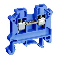 SIMET Złączka gwintowa szynowa 2-przewodowa 1-torowa 6mm² niebieska 11421313