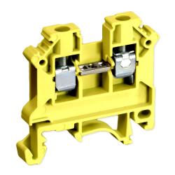 SIMET Złączka gwintowa szynowa 2-przewodowa 1-torowa 6mm² żółta 11421314