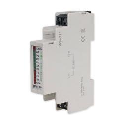 F&F Wskaźnik napięcia modułowy lampki LED woltomierz 1-faza 200-250V AC WN-711