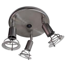 [OUTLET] APOLLO Lampa Oprawa ścienno-sufitowa ruchoma 3x40W E14 matowy chrom ZZ521