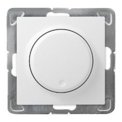OSPEL IMPRESJA Ściemniacz obrotowy LED 100W 230V do ramki biały ŁP-8YL2/m/00