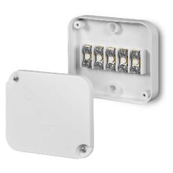 ELEKTRO-PLAST Puszka elektroinstalacyjna Z WKŁADEM 5x2,5mm² natynkowa IP20 biała EP-LUX 0225-00