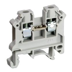 SIMET Złączka gwintowa szynowa 2-przewodowa 1-torowa ZUG 4mm² szara 11321312