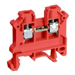 SIMET Złączka gwintowa szynowa 2-przewodowa 1-torowa ZUG 4mm² czerwona 11321311