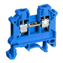 SIMET Złączka gwintowa szynowa 2-przewodowa 1-torowa ZUG 4mm² niebieska 11321313