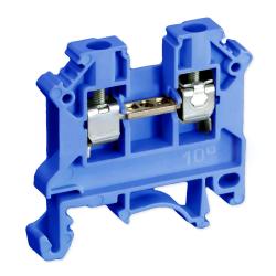 SIMET Złączka gwintowa szynowa 2-przewodowa 1-torowa ZUG 10mm² niebieska 11521313