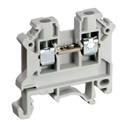 SIMET Złączka gwintowa szynowa 2-przewodowa 1-torowa ZUG 6mm² szara 11421312