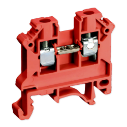 SIMET Złączka gwintowa szynowa 2-przewodowa 1-torowa ZUG 6mm² czerwona 11421311