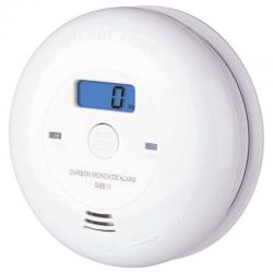 EMOS Czujnik czadu tlenku węgla z WYŚWIETLACZ LCD na 3x bateria AA GS811 (P56401) biały