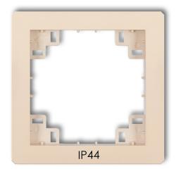 KARLIK DECO Ramka pośrednia uszczelniająca IP44 do łączników beżowa 1DRPH