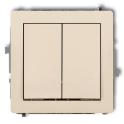 KARLIK DECO Przycisk łącznik zwierny podwójny do ramki beżowy 1DWP-44.1