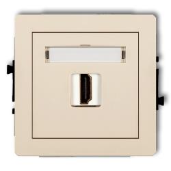 KARLIK DECO Gniazdo pojedyncze HDMI beżowe 1DHDMI-1