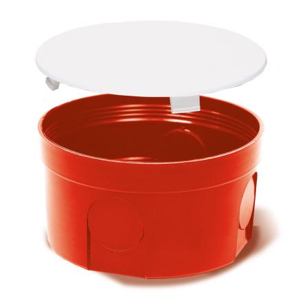 Elektro-Plast Puszka elektroinstalacyjna podtynkowa płytka z pokrywą PO-80 PRO 10 szt.