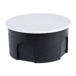 Elektro-Plast Puszka elektroinstalacyjna p/t płytka z pokrywą PO-80 czarna PU042