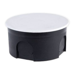 Elektro-Plast Puszka elektroinstalacyjna p/t płytka z pokrywą PO-70 czarna PU042