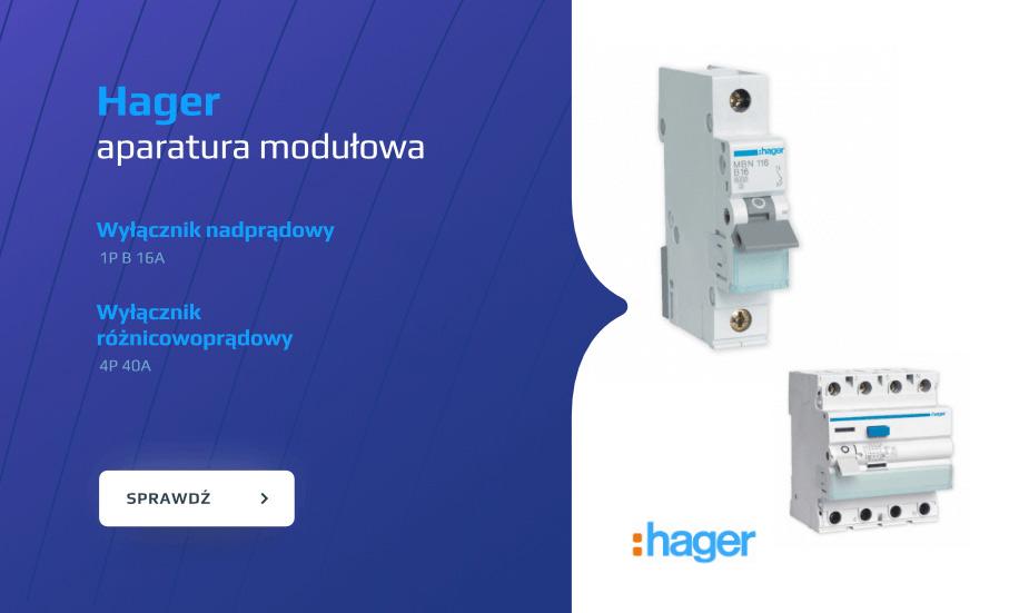 hager aparatura modułowa, bezpieczniki hager, aparatura hager, hager w dobrej cenie