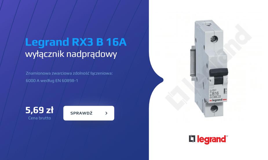 Legrand RX3 B16A, wyłącznik nadprądowy legrand
